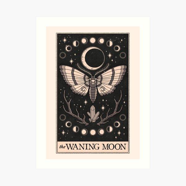 Der abnehmende Mond Kunstdruck