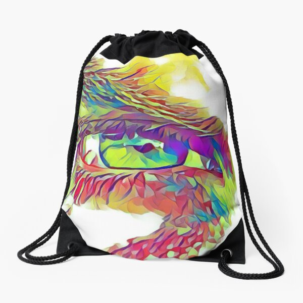 An Eye on Digital Art Drawstring Bag