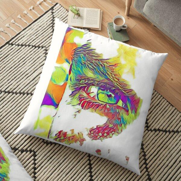 An Eye on Digital Art Floor Pillow