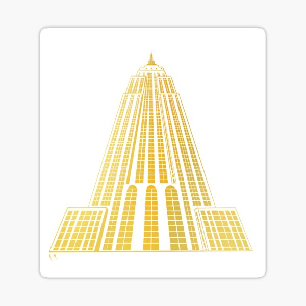 Empire State Building NYC Sticker
