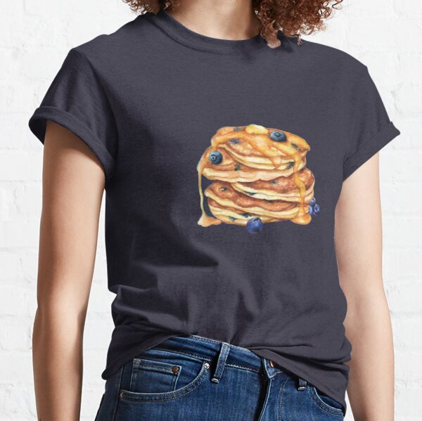 Breakfast Food -Pancakes with syrup and blueberries Classic T-Shirt
