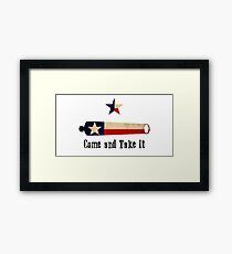 Come and Take it - Texas Flag Framed Print