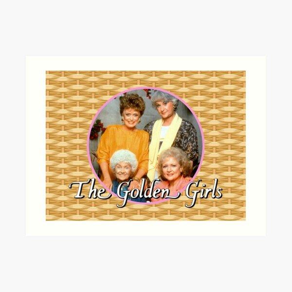 The Golden Girls on Wicker Art Print