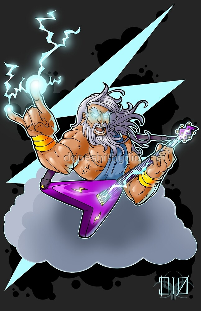 Zeus the Rock God of Lightning by dopeshitbydio