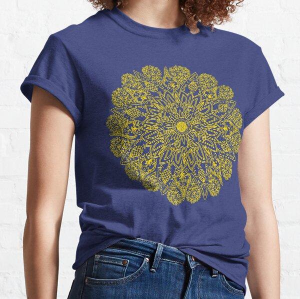 Crimea is Ukraine - political mandala (yellow) Classic T-Shirt