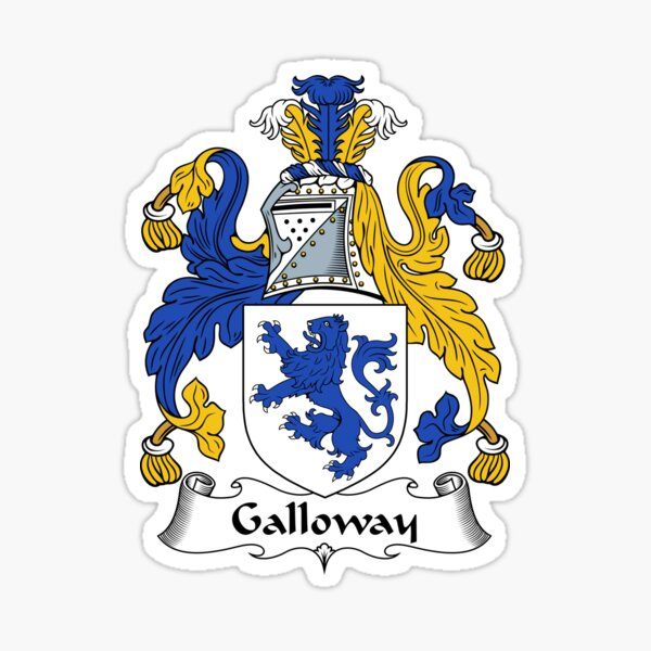 Galloway Coat of Arms / Galloway Family Crest Sticker