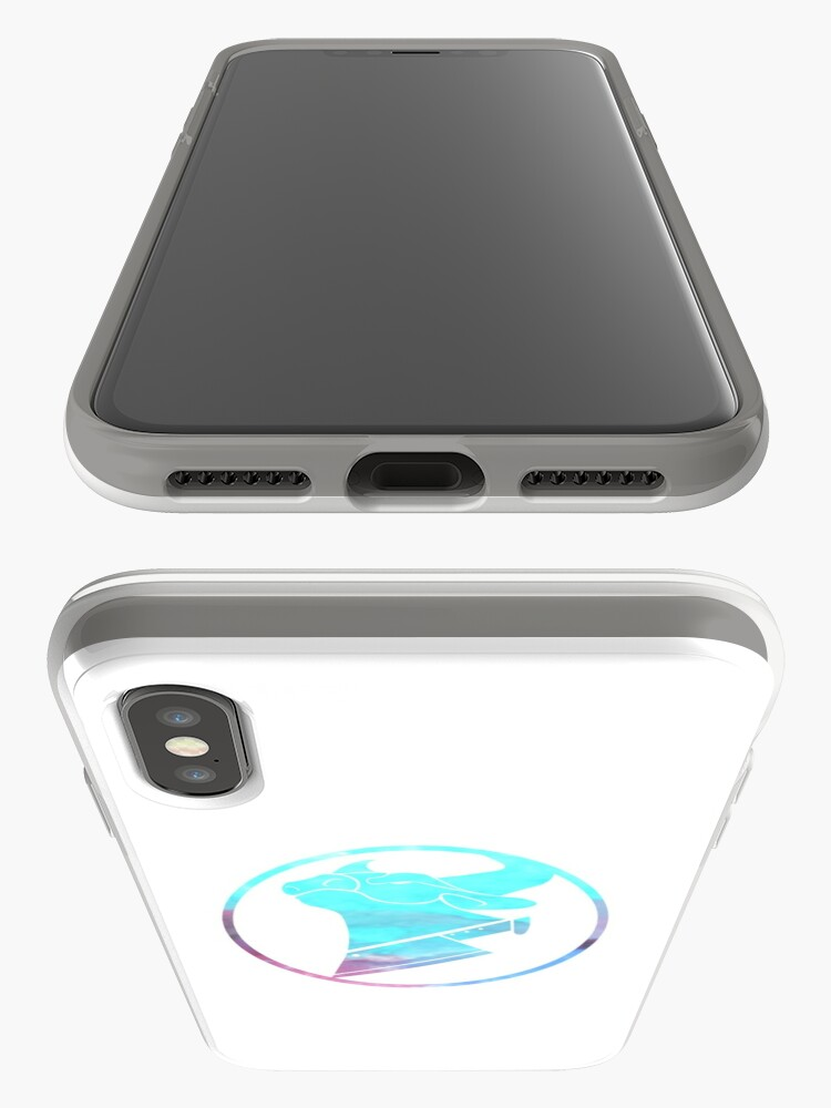 Alternative Ansicht von Kuh-Hacken-Wasserfarblogo iPhone-Hülle & Cover