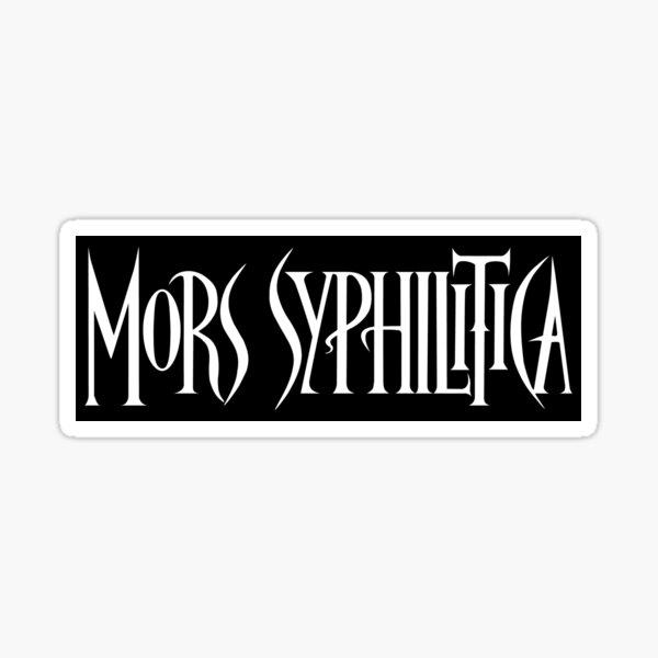 Mors Syphilitica (name logo) 1990's Sticker