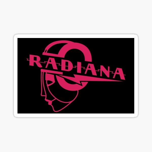 Radiana (black/pink logo) Sticker