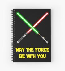 May the force be with you-star wars fanart Spiral Notebook