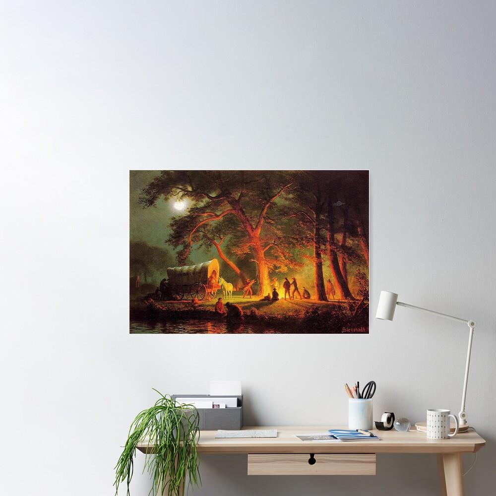 The Oregon Trail, by Albert Bierstadt Poster