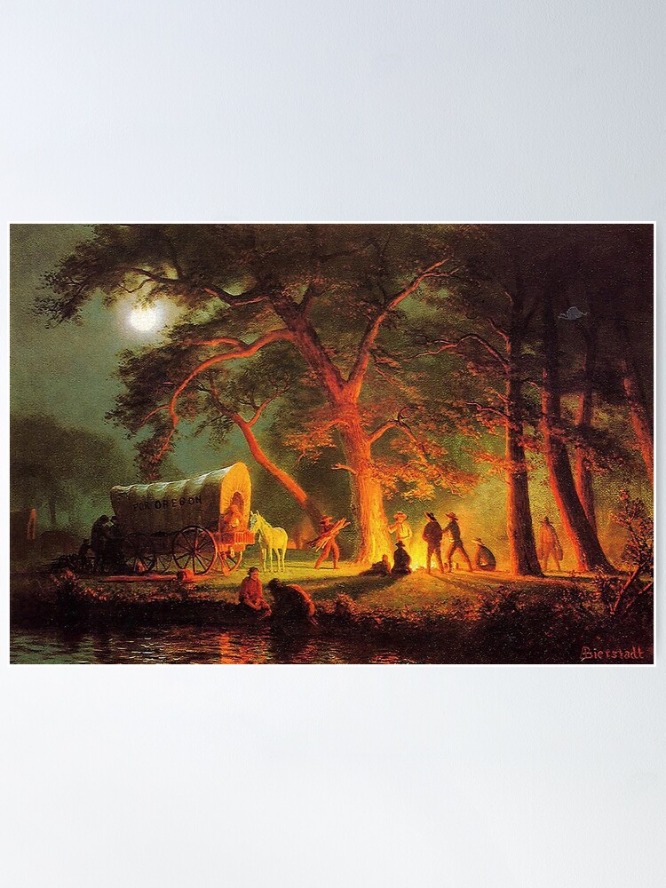 Alternate view of The Oregon Trail, by Albert Bierstadt Poster