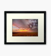 Colorado Eastern Plains Sunset Sky Framed Print