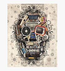 retro tech skull 2 Photographic Print