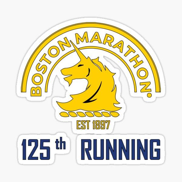 Boston marathon 125th running Sticker