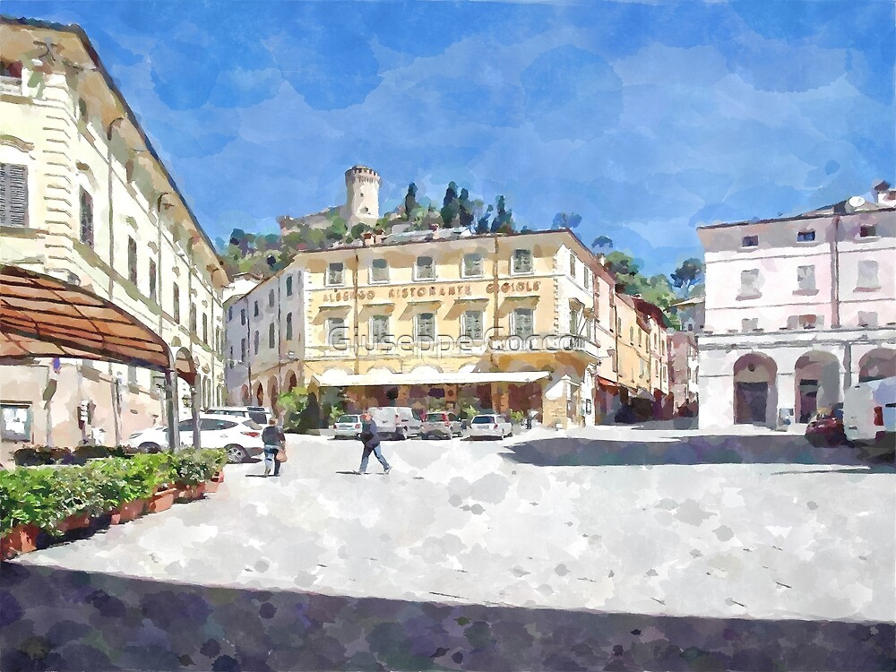 Brisighella: view of the square by Giuseppe Cocco