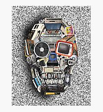 retro tech skull 3 Photographic Print