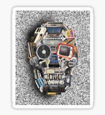 retro tech skull 3 Sticker
