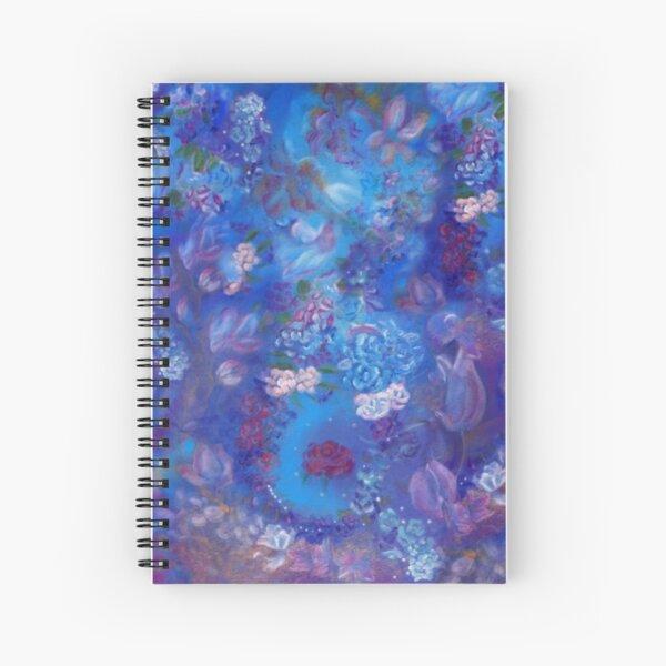 Blue Garden Spiral Notebook