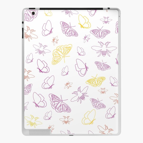 Butterflies and Bees Light by Creative Bee Studios iPad Skin