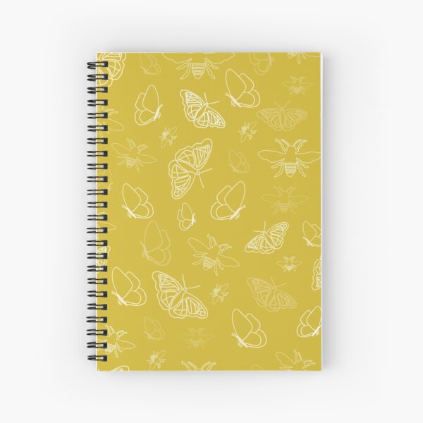 Butterflies and Bees Texture Design by Creative Bee Studios Spiral Notebook