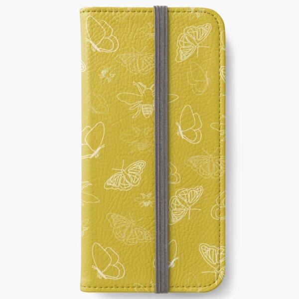 Butterflies and Bees Texture Design by Creative Bee Studios iPhone Wallet