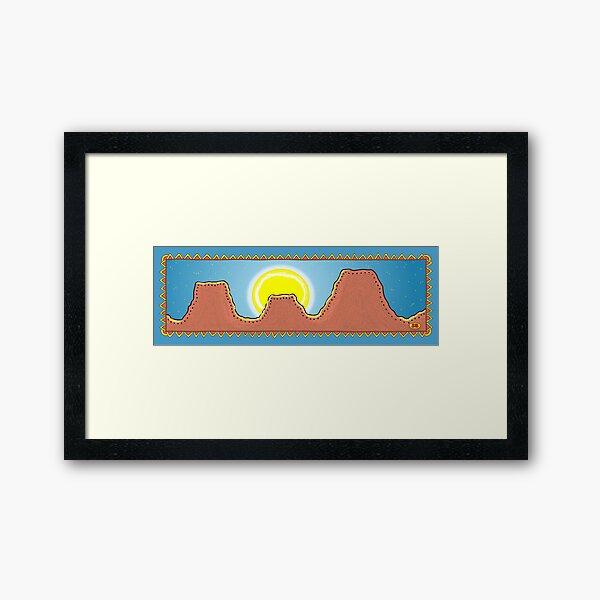 Moonrise Border Framed Art Print