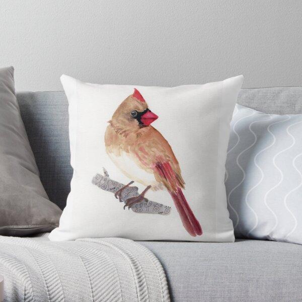 Cardinal Spirit Animal Throw Pillow