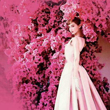 Audrey Hepburn watercolor by MissClaraBow
