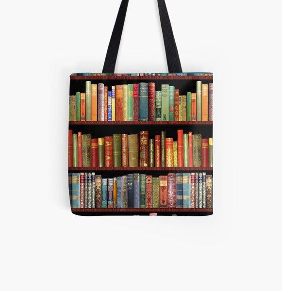 Jane austen antique books, British antique books All Over Print Tote Bag