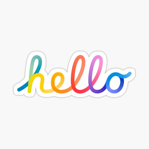 hello Spring Loaded rainbow Sticker