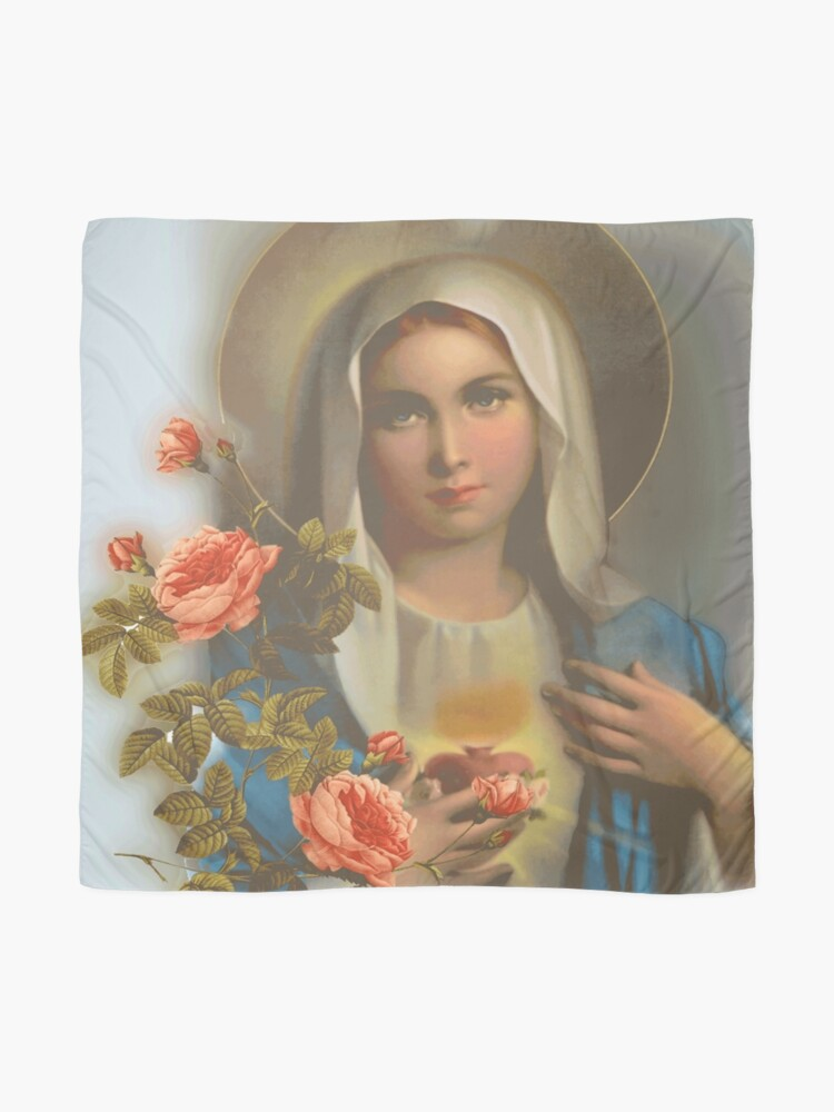 Alternate view of Madonna of May Scarf