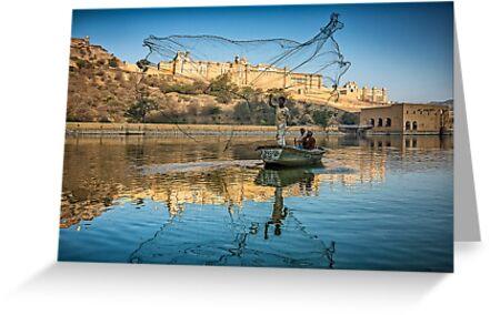 Amber Fort Fishermen - Rajasthan, India by JamesKaoFoto