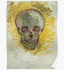 Vincent Van Gogh - Skull 2. portrait skull: skeletal, skeleton, smoking, teeth, mouth, skull, remains, ash, head, fantasy , death Poster