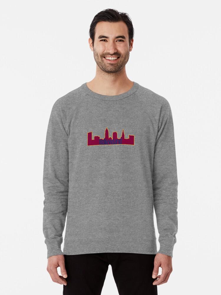 best website 26ddd bd4b6 'Believeland Cleveland Cavs Silhouette' Lightweight Sweatshirt by  ohioinspired