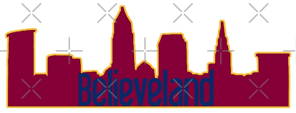 Believeland Cleveland Cavs Silhouette by ohioinspired