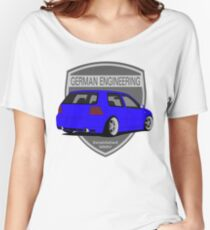 German Engineering -Blue Women's Relaxed Fit T-Shirt
