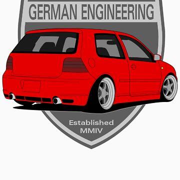 German Engineering -Red by VolkWear