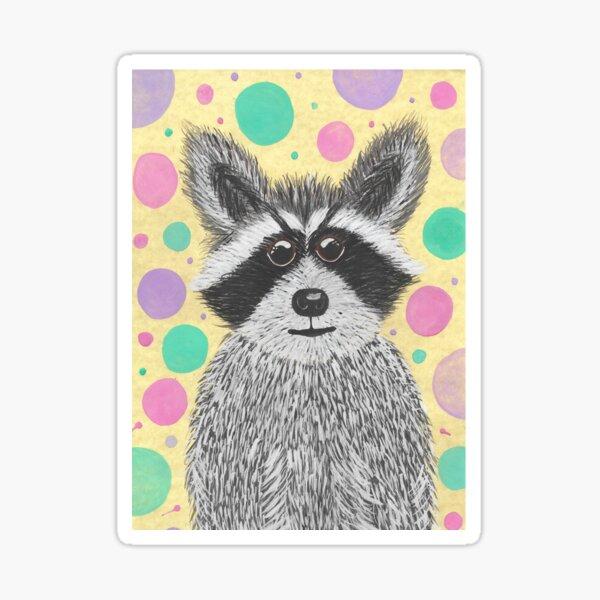 Raccoon Pegatina