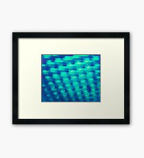 Modern Fashion Abstract Color Pattern in Blue / Green Framed Print