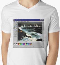 Microsoft Paint Art Men's V-Neck T-Shirt