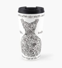 The Vintage Dress - Proverbs 31:25 Travel Mug