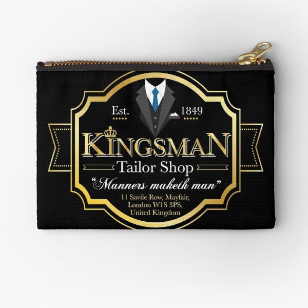 Kingsman Tailor Shop Zipper Pouch