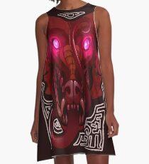 Pink-Eyed Dragon A-Line Dress