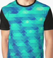 Modern Fashion Abstract Color Pattern in Blue / Green Graphic T-Shirt