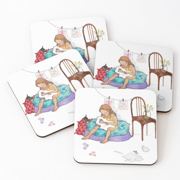 Welcome little one Coasters (Set of 4)