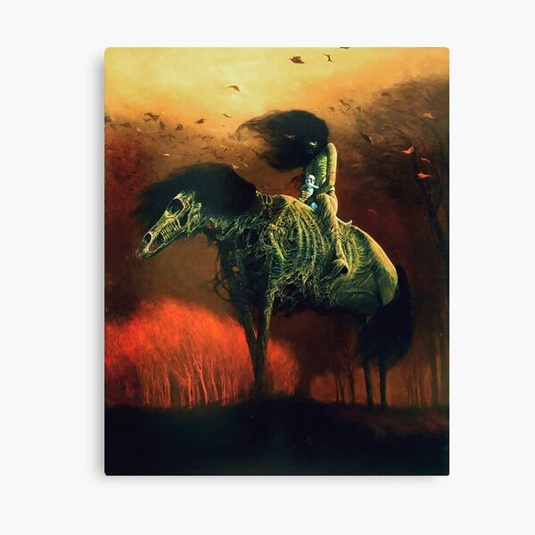 Untitled (Horsemen) by Zdzisław Beksiński Canvas Print