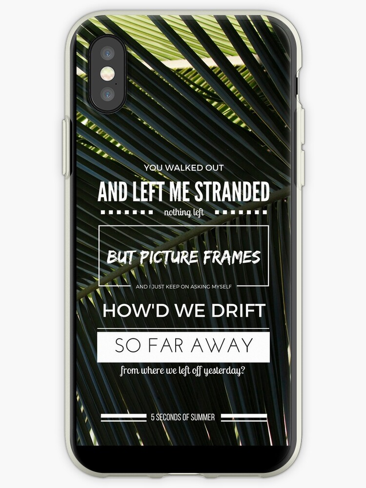 "5 seconds of summer ""castaway"" iphone case by woodeneasel"