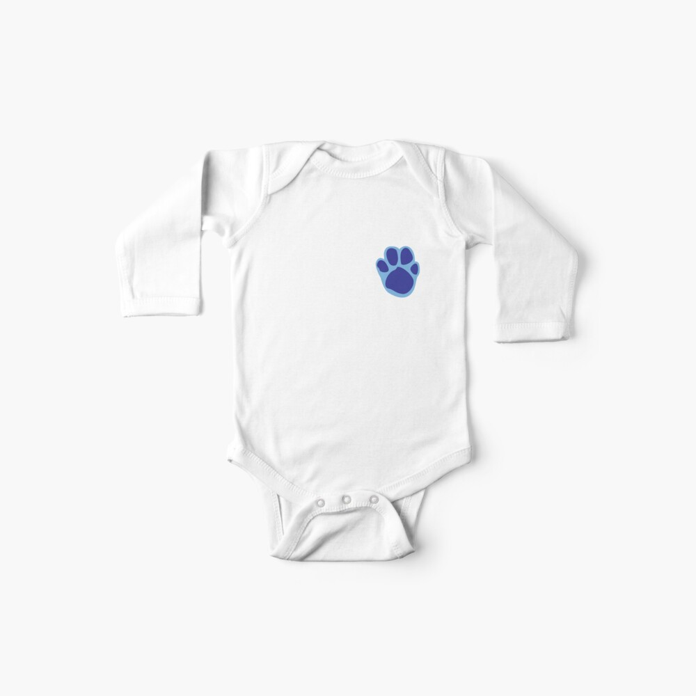 Blaues Tatzen-Druck-Muster Baby Body