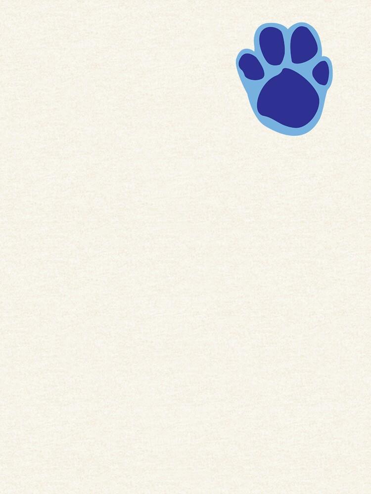 Blaues Tatzen-Druck-Muster von rivermill